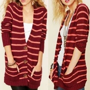 Free People North Beach Chunky Knit Cardigan Small